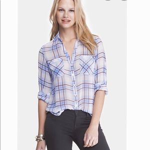 Express Portofino Plaid Shirt